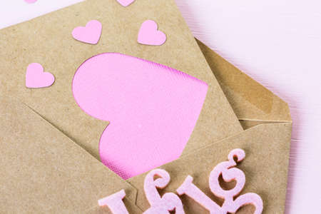 nad made: Hand crafted Valentines Day card from recycled paper.