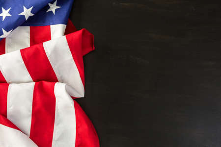 goverment: Large American Flag on the table. Stock Photo