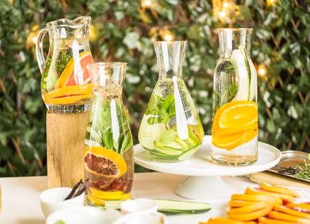 navel orange: Detox citrus infused water as a refreshing summer drink.