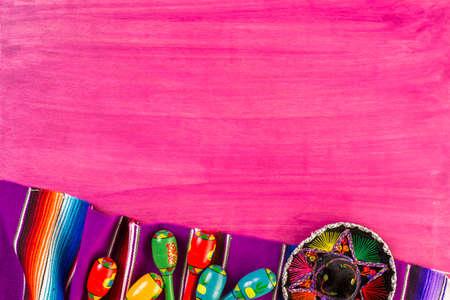 sombrero de charro: decoraciones de la tabla de colores tradicionales