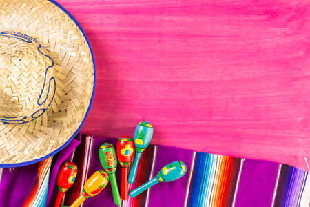 Traditional colorful table decorations