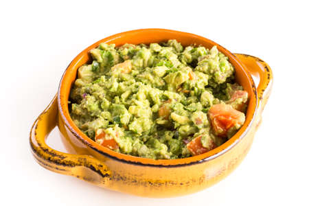 Fresh homemade quacamole in the bowl. Stock Photo