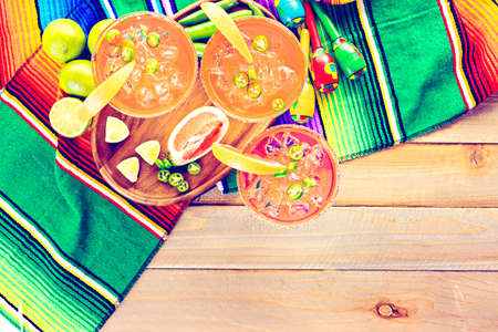 piperaceae: Spicy grapefruit margarita on ice in margarita glasses. Stock Photo