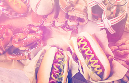 seltzer: Baseball party food with balls Stock Photo