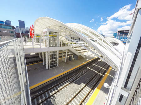 urban redevelopment: View of tracks of the Denver Union Station.