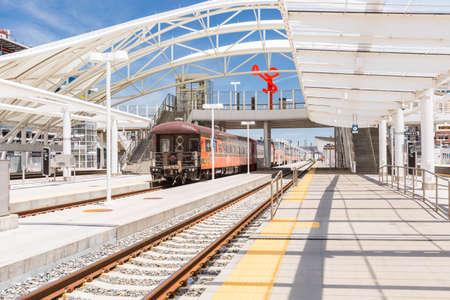denver colorado: Denver, Colorado, USA-June 2, 2016. Train platform of Union Station in Denver, Colorado.