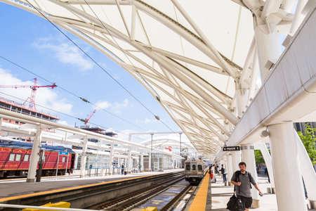 urban redevelopment: Denver, Colorado, USA-June 1, 2016. View of platforms of Denver Union Station in the Summer.