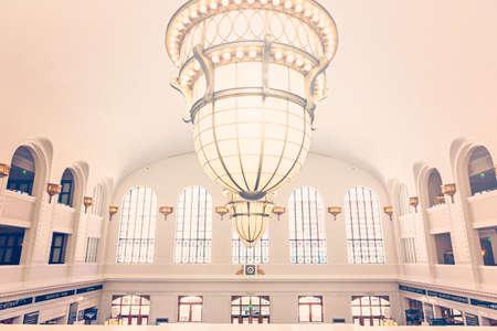 Denver, Colorado, USA-June 1, 2016. View of interior of Denver Union Station.