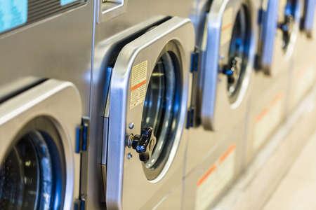 washing machines: Industrial washing machines in a public