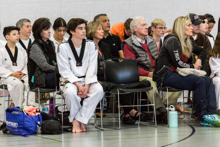 tae: Denver, Colorado, USA-February 21, 2016. Tae Kwon Do testing for verious degree of black belts. Editorial