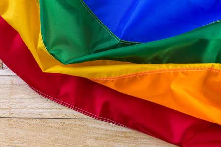 homosexuals: Arco iris del orgullo gay de fondo de la bandera.