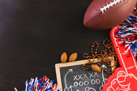 Game day football party table.
