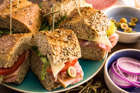 hero sandwich: Fresh sub sandwich on multigrain bread.