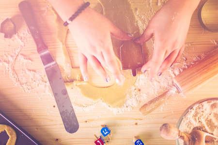 jewish home: Step by Step. Making homemade gluten free sugar Hanukkah cookies.