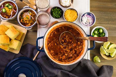 Stap voor stap. Koken Thuisgemaakte Kalkoen Chili voor het avondeten.