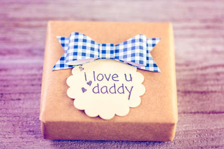 Wrapped in drown paper gift for Fathers Day.
