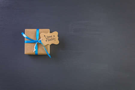 Wrapped in brown paper gift for Fathers Day.