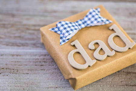 mode made: Wrapped in drown paper gift for Fathers Day.