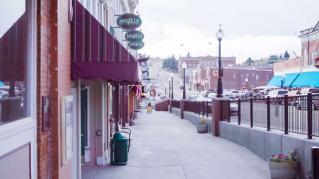 Cripple Creek, Colorado, USA-October 6, 2018 - Main street of small gambling mountain town. Editorial