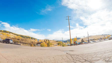 Cripple Creek, Colorado, USA-October 6, 2018 - Small gambling and mining mountain town in Colorado.