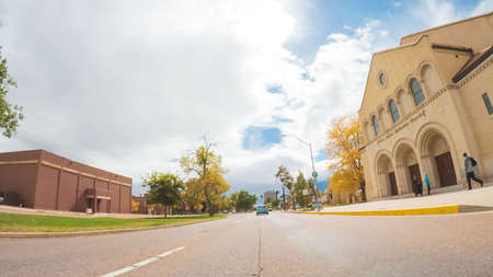 Colorado Springs, Colorado, USA-October 6, 2018 - Driving through downtown of Colorado Springs in Autumn. Stock Photo - 111813606
