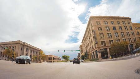 Colorado Springs, Colorado, USA-October 6, 2018 - Driving through downtown of Colorado Springs in Autumn. Stock Photo - 111813614