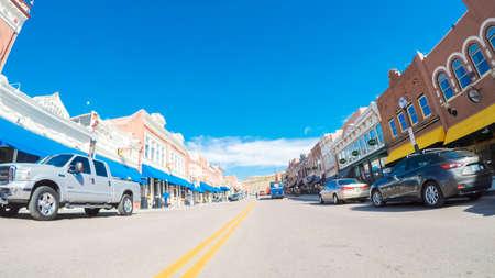 Cripple Creek, Colorado, USA-October 6, 2018 - Small gambling and mining mountain town in Colorado.