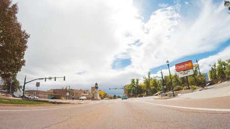 Colorado Springs, Colorado, USA-October 6, 2018 - Driving through downtown of Colorado Springs in Autumn. Stock Photo - 111813697