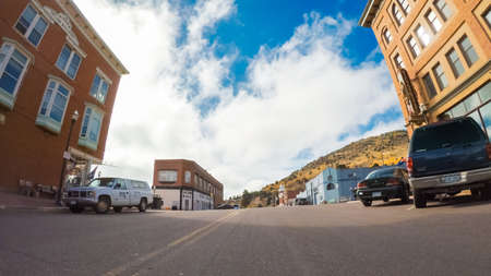 Victor, Colorado, USA-October 6, 2018 - Historical small mountain town in Colorado. Editorial