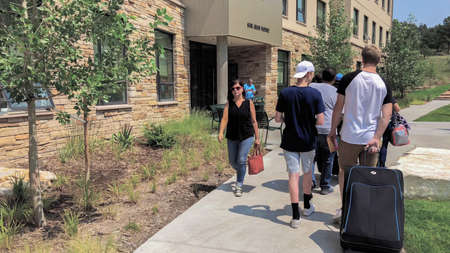 Colorado Springs, Colorado, USA-August 14, 2018- Student moving into the dorms at University of Colorado at Colorado Springs.