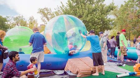 Boulder, Colorado, USA-May 28, 2018 - Boulder creek Summer festival. Stock Photo - 120752570
