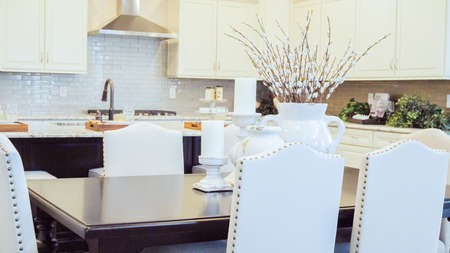 Modern kitchen in luxury house. Banque d'images - 114140636