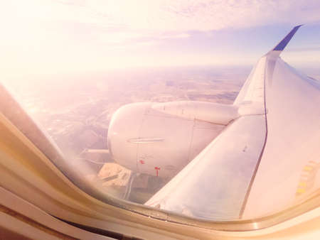 View from the commercial passanger airplane.