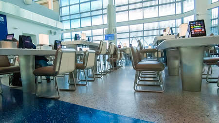 Houston, Texas, USA-January 11, 2019 - Inside oof the terminal at the Houston International Airport.