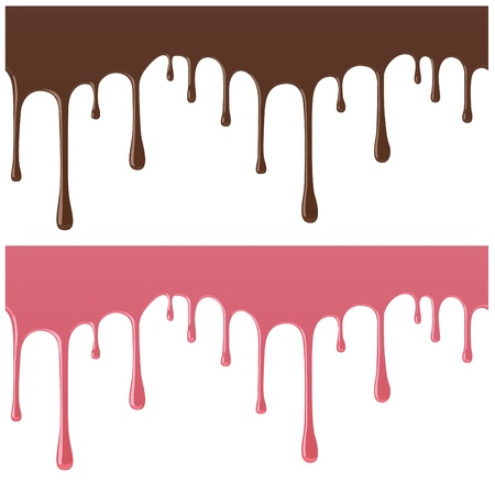 seamless melted chocolate and candy , used reflective material Stock Vector - 12222323