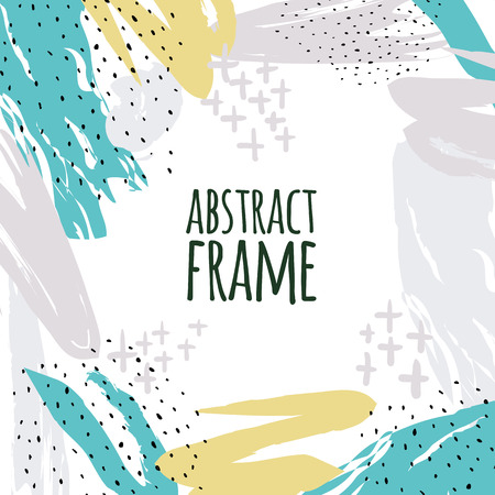 Vector hand draw abstract background frame.