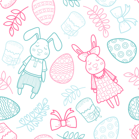 Decorative vector pattern for a holiday Easter.