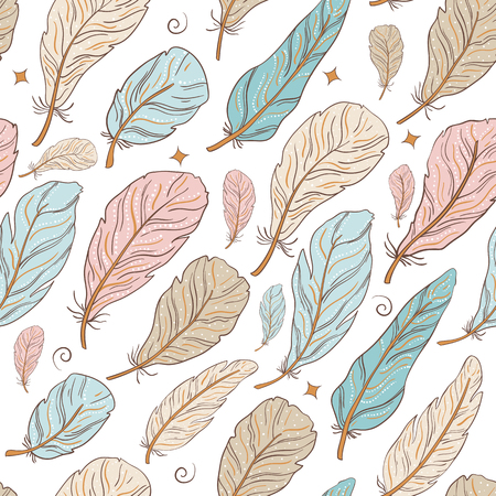 Seamless pattern with swallow birds and beautiful flowers. Vector embroidery for fashion textile and fabric. Hand draw.