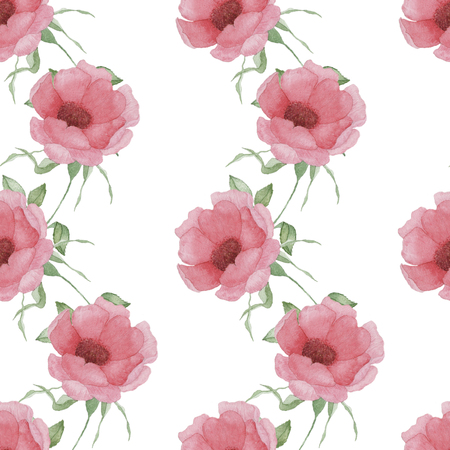 Seamless pattern with pink flowers and leaves on white background illustration seamless pattern with pink flowers and leaves on white background watercolor floral pattern flower in pink color flower pattern for mightylinksfo