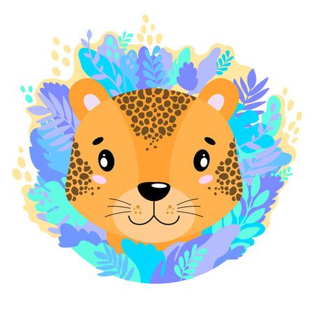 Cute kind leopard face in the jungle