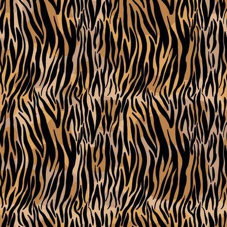 Vector illustratie naadloze patroon bloemen dier bont print achtergrond. Hand getrokken stijl, textuurbehang, modestof, textiel. Abstracte huid pelage. Borstel schilderij. Vector Illustratie