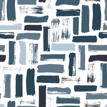 Seamless abstract pattern art. Texture with Hand Painted Crossing Brush Strokes for Print. Rustic texture background. Modern graphics. Vector illustration.