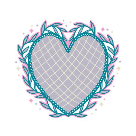 Sacred mexican spirit color. Soul symbol religion. Decoration emblem holy heart.Sacramental religion.Vector illustration.