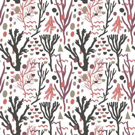 Seamless nature pattern,drawing.