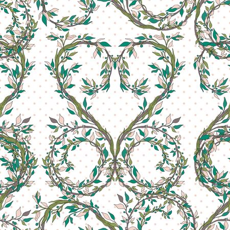 Seamless pattern nature vintage style.Floral classic ornament.Design for home decor, fabric, carpet, wrapping.Vector illustration.