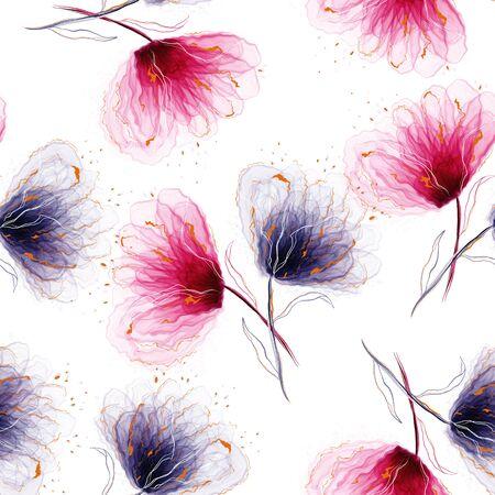 Abstract background acrylic.Trendy alcohol ink art.Liquid marble texture. 版權商用圖片