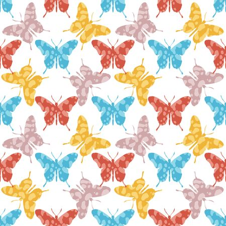 Butterfly seamless pattern vintage style.Design for covers,fabric,textile.Summer background.Vector illustration.