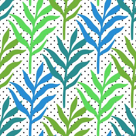 Seamless Pattern tropical plant.Botanical floral background.Design for home decor, fabric, carpet, wrapping. Vector illustration.