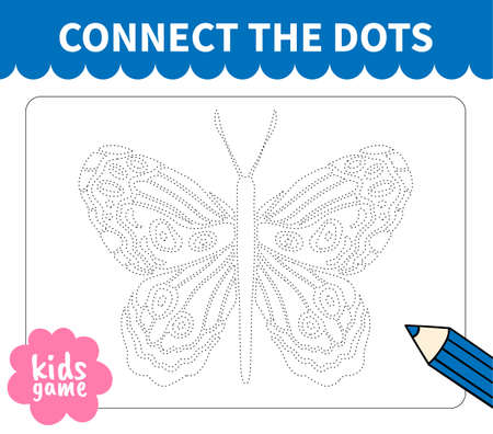 Children board game connect to dotted line for preschoolers and primary school students worksheets,kindergarten.Page for kids educational book.