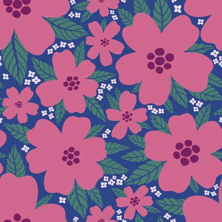 Seamless pattern floral flower abstract.Botanical vintage nature background.Print fashion textile.Vector illustration. Illustration